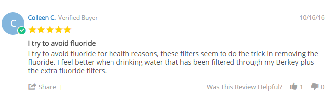 berkey fluoride review
